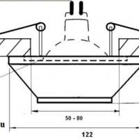 DK-001 Светильник точечный гипсовый  Декоратор