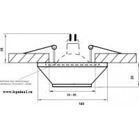 DK-015 Светильник точечный гипсовый Декоратор