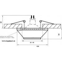 DK-020 Светильник точечный гипсовый Декоратор