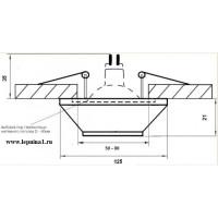 DK-025 Светильник точечный гипсовый Декоратор