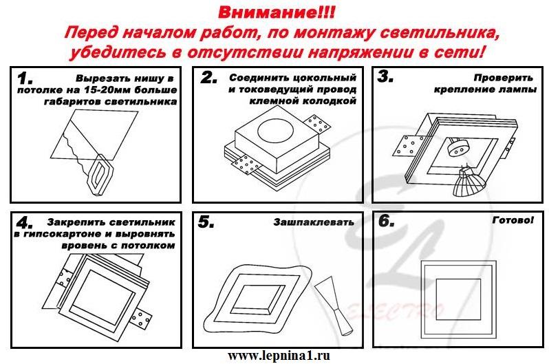Светильник точечный гипсовый Декоратор VS-006