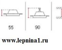 Светильник точечный гипсовый Декоратор VS-011