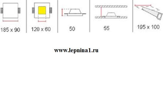 Светильник врезной гипсовый Декоратор ST-003