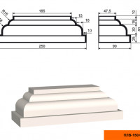 Пилястра Lepninaplast  ПЛВ-150/6 (база)