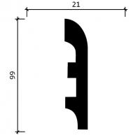 Напольный плинтус Decor-Dizayn DD41