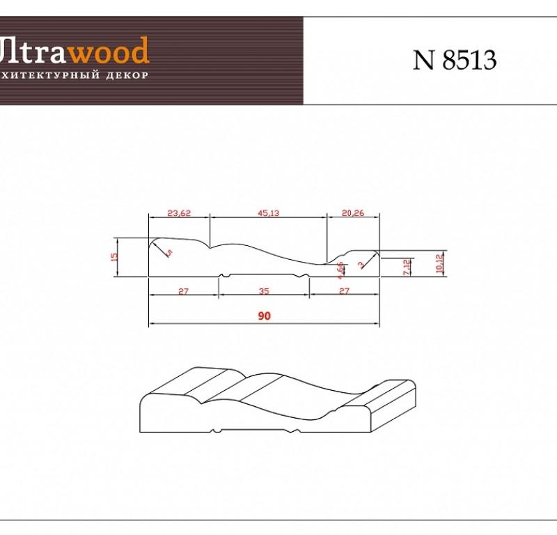 Наличник под покраску Ultrawood N 8513