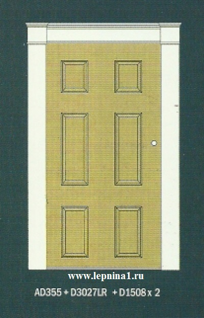 Капитель пилястры D1508 к обрамлению дверного проема Perfect D3027R