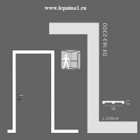 Молдинг для обрамления дверных проемов Orac Axxent SX163