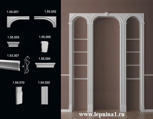 1.55.003 Переходник Обрамление арок Европласт