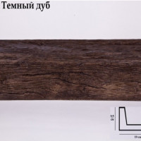 Декоративная балка Уникс СС3 темный дуб 3м