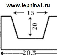Декоративная балка 3 метра Уникс Б4 венге