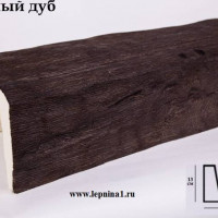 Декоративная балка Уникс Б3 темный дуб 2м