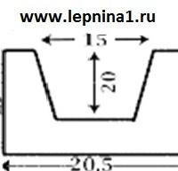 Декоративная балка 2 метра Уникс Б4 орех