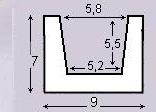 Декоративная балка Уникс М9 белая 2м