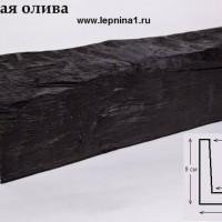 Декоративная балка Уникс Б9 темная олива 2м