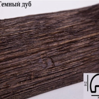 Декоративная балка 2 метра Уникс Р1 темный дуб