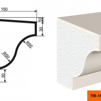 Подоконник Lepninaplast ПВ-150/3